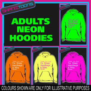 SHOES HANDBAGS & WINE SLOGAN  ADULTS TEENAGER ELECTRIC HOODIE HOODY